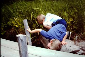 Photo: Josh & Ryan frog hunting.