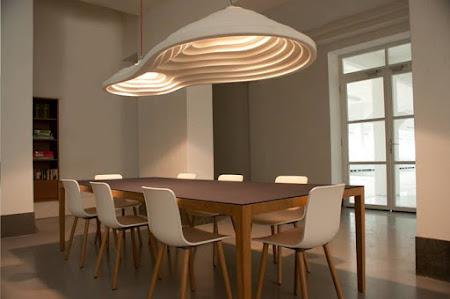 Akoestische design lampen