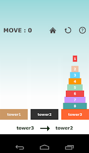 Tower of Hanoi -simple puzzle-- screenshot thumbnail