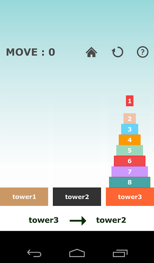 Tower of Hanoi -simple puzzle-- screenshot