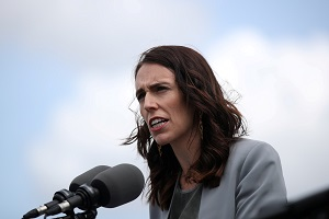 NZ Ardern's party support slips but enough to govern alone