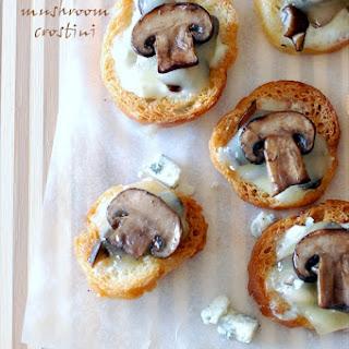 Blue Cheese Mushroom Crostini.
