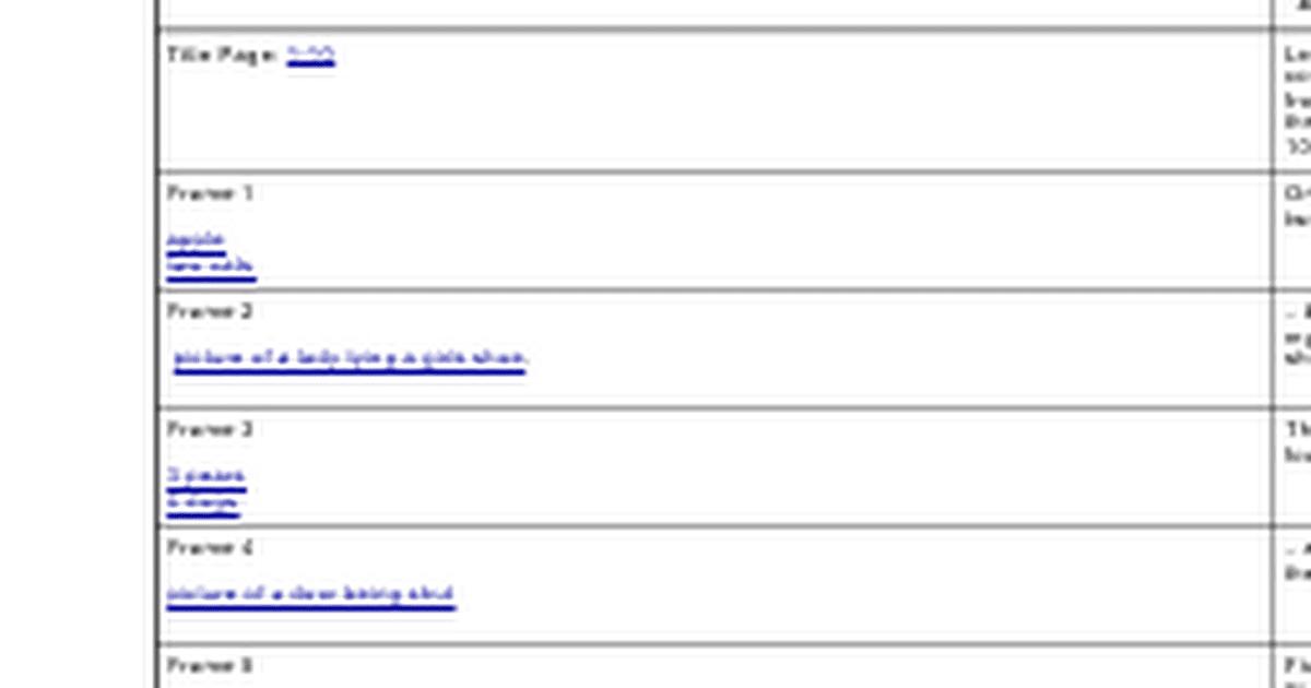 Copy of storyboard template google docs for 1 2 buckle my shoe 3 4 shut the door