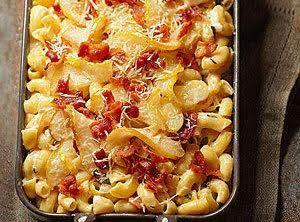 Bacon-pear Macaroni & Cheese