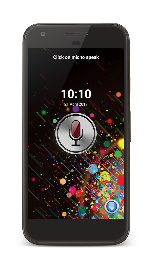 Unlock phone by voice- screenshot