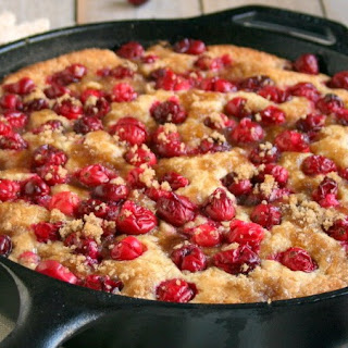 Cranberry Cornmeal Skillet Cake