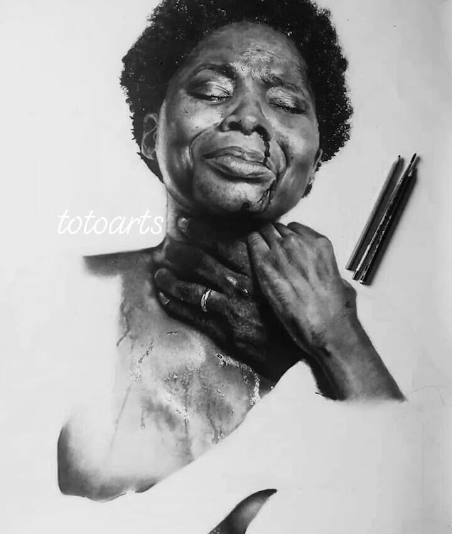 A portrait on domestic violence and violence against women.