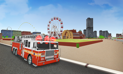 Fire Truck Racer: Chicago 3D