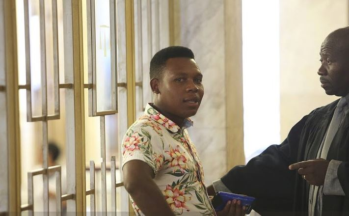 Siwaphiwe's biological father Phumlani Mbokazi and his lawyer Andile Dakela in Durban Magistrate Court on February 2, 2018. File photo