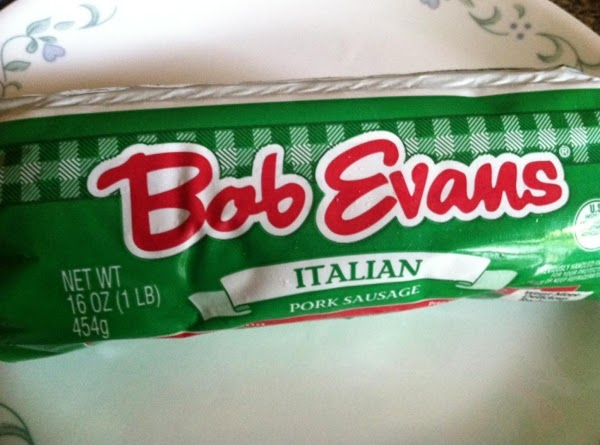 Preheat oven to 375F.  Take out your sausage.  I used Bob Evan's...