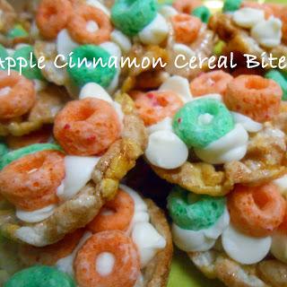 Apple Cinnamon Cereal Bites