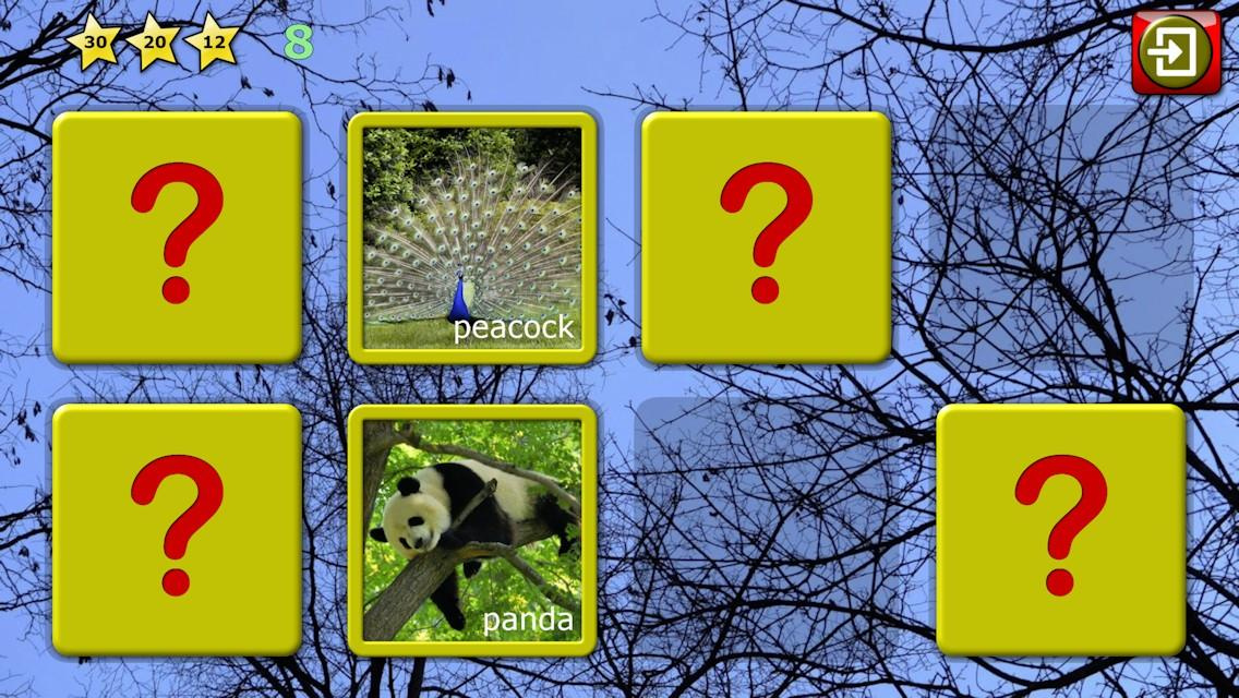 Kids animal puzzle and memory- screenshot