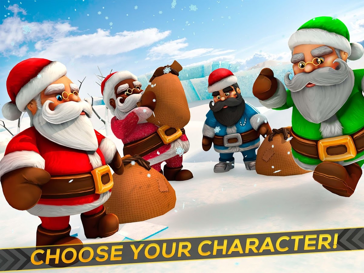 santa claus racing game android apps on google play