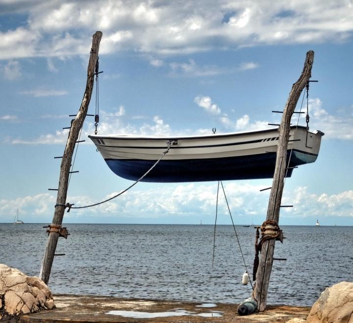 Cielo sotto la barca di maurizio