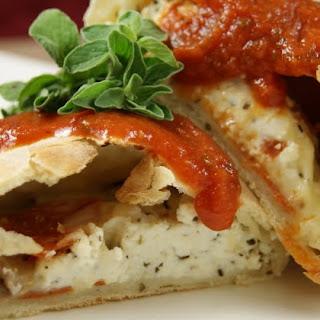 Pepperoni & Mushroom Calzones.