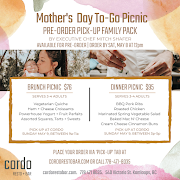 MOTHER'S DAY DINNER PICNIC (serves 3-4 adults)- Pre-Order Pick-Up