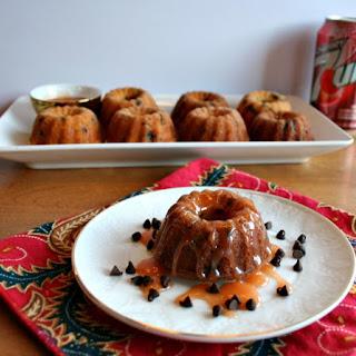 Chocolate Chip Cherry Mini Bundt Cakes with Cherry 7UP® Caramel Sauce