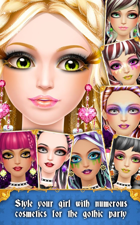 Download Crazy Gothic Party Makeover App For Android