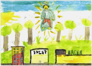 Photo: Praca konkursowa, 2001 r. Przemek, lat 9. Wyróżnienie w kat. wiek. klas 1 - 3.
