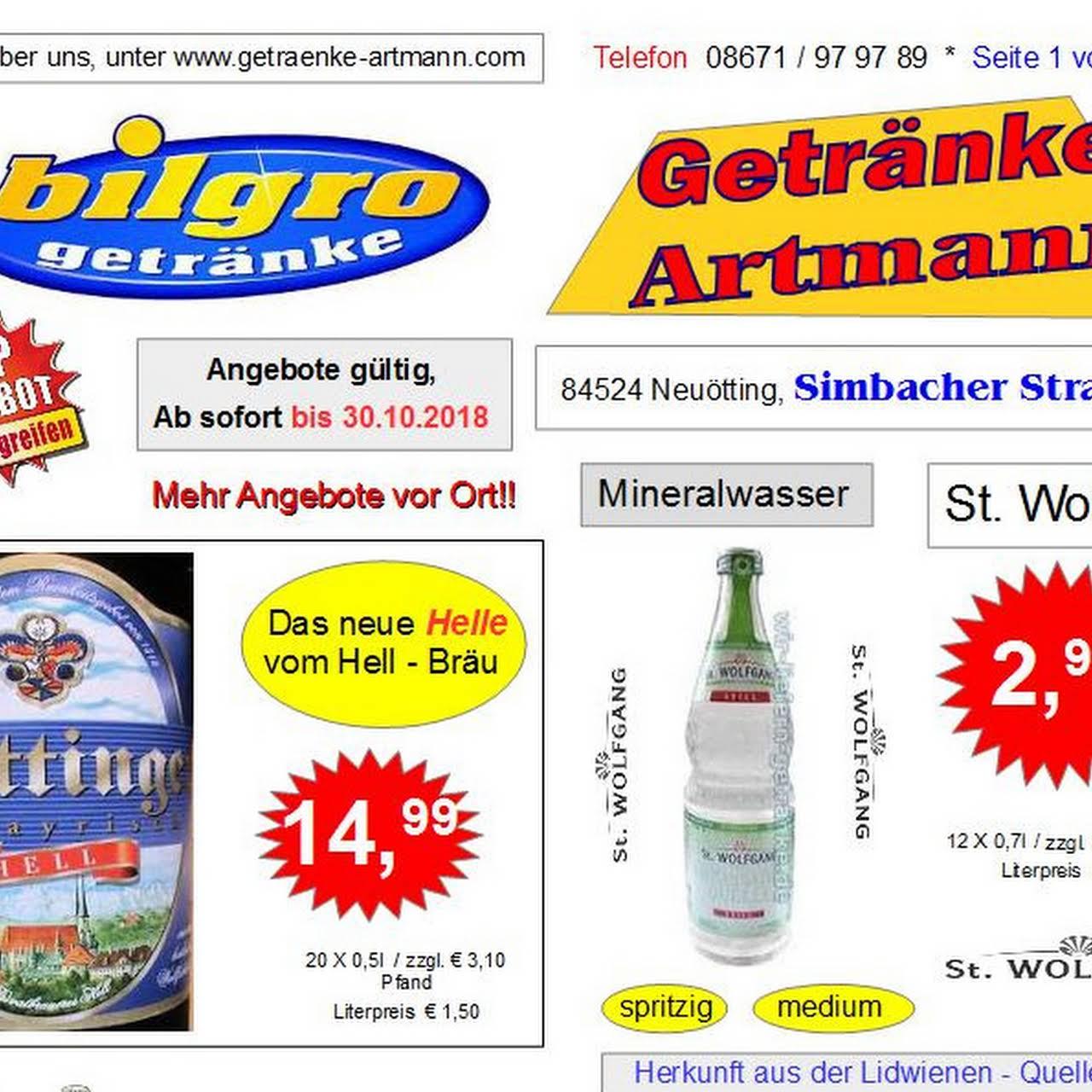 Getränke Artmann - Getränkemarkt Artmann in Neuötting