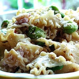 Ricotta Pasta with Fava Beans and Bacon.