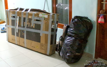 Photo: Bike packed up from the flight