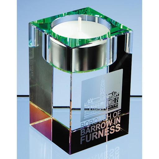 Crystal & Glass Tea Light Holders for Engraving