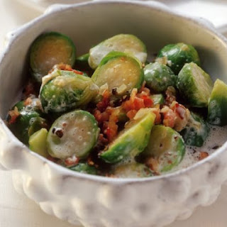Brussels Sprouts with Bacon and Cream