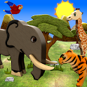 Animals for toddlers kids free icon