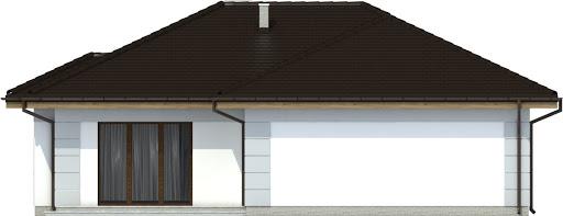 Radek III z garażem 1-st. A - Elewacja tylna