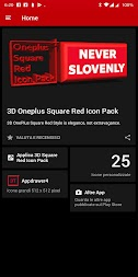 3D Square Red Icon Pack Oneplus Style APK screenshot thumbnail 2