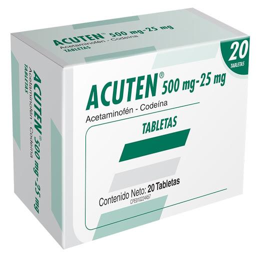 Acetaminofen + Codeina Acuten 500/25 mg