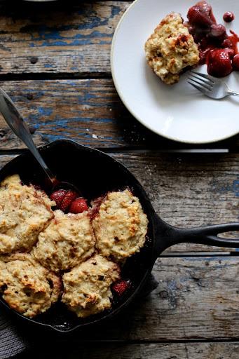 Strawberry and Dumpling Skillet Cake