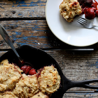Strawberry and Dumpling Skillet Cake