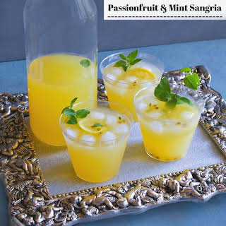 Passionfruit and Mint Sangria.