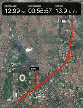 Photo: El GPS me ha fallado, porque no fueron 13 kilómetros. Hablando con otros corredores tampoco fueron 10K, como se anunciaba, sino algo más de 11K.