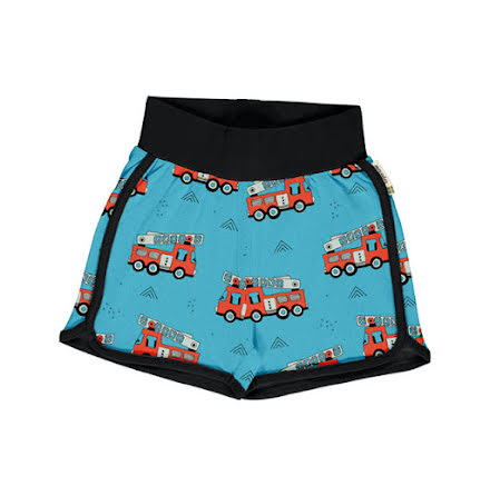 Maxomorra Runner Shorts Fire Trucks