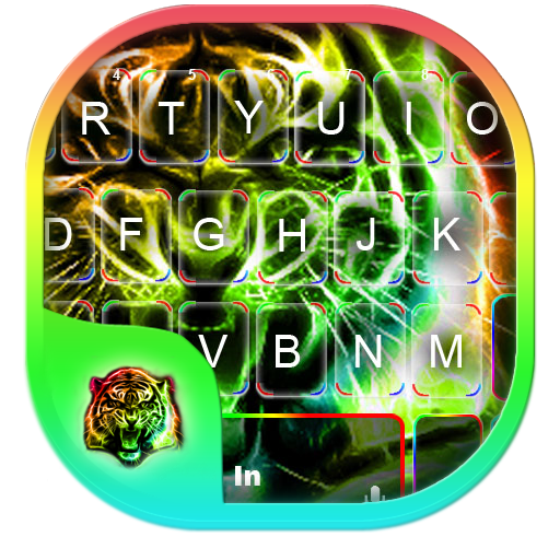 Neon Tiger Keyboard Theme Icon