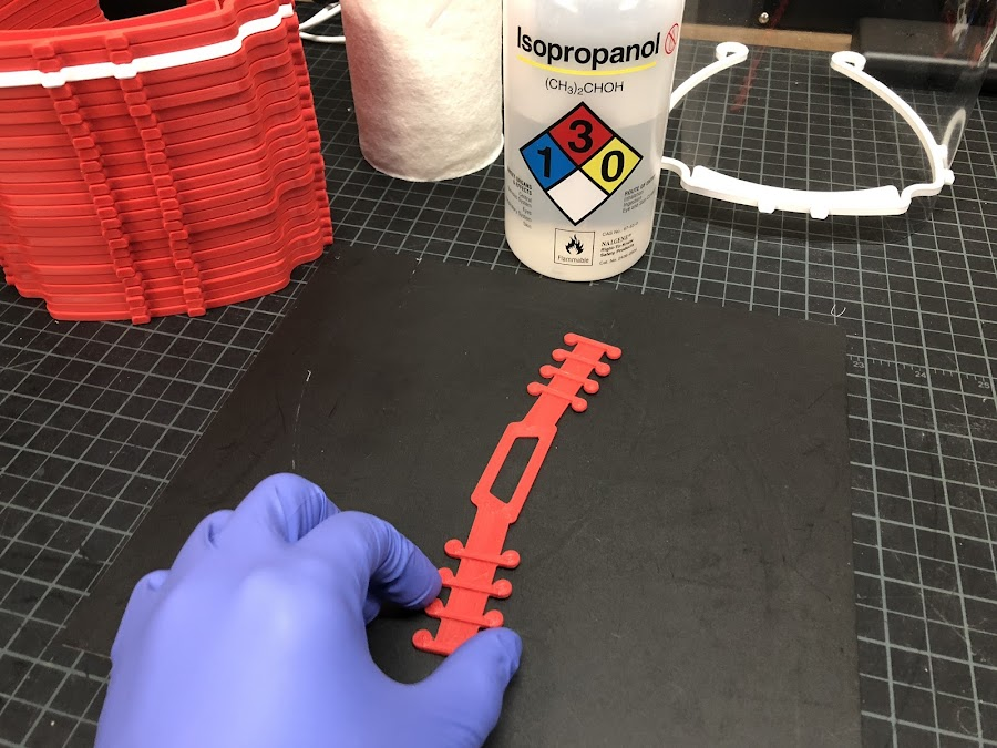 Use gloves when handling all your 3D printed parts.