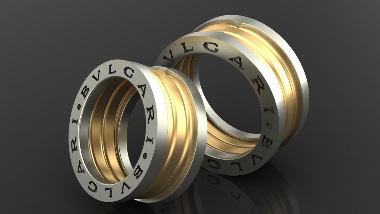 Свадебные кольца булгари фото