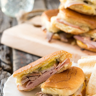 Cubano Sheet Pan Sliders