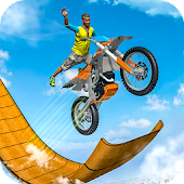 Mega Ramp Moto Racing: Impossible Stunts Game