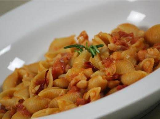 Shells, Cannellini Beans And Pancetta Recipe
