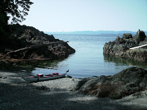 Photo: Clarence Strait from a beach on the Cleveland Peninsula.