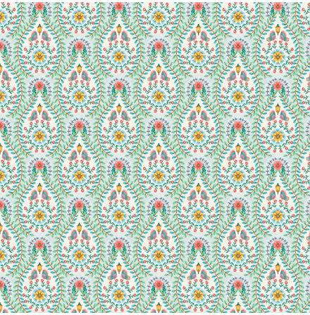 Pip 2020 Raindrops Tapet med geometriskt mönster - Vit