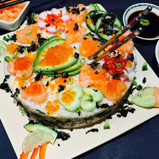 Homemade Sushi Cake.