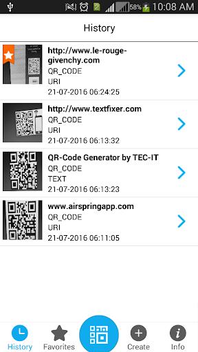QR码和条形码扫描器