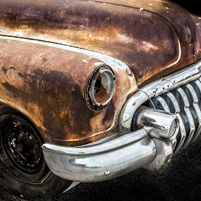 old by Dougetta Nuneviller - Transportation Automobiles ( automobile     automobiles     vintage     car     antique     relic     rust     decay     abandonded     junk     route 66     broken     grime     beautiful     colorful     old )