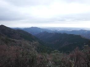溝干山から長峰尾根を望む