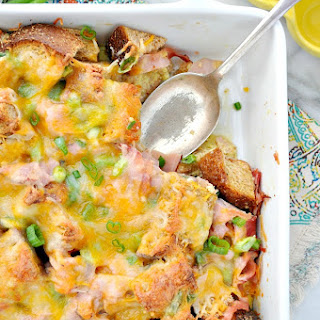 Ham Egg and Cheese Breakfast Strata